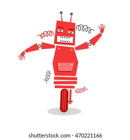 Funny Robot Character. Vector eps.10