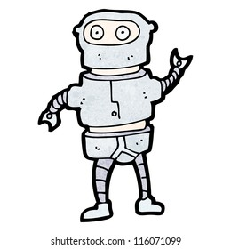 funny robot costume cartoon
