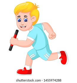 Funny Run Man Cartoon For Your Design