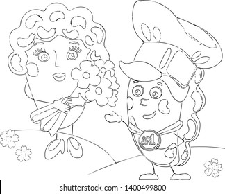 Funny Russian cartoons, girl and boy