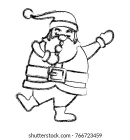 Funny santa claus singing cartoon