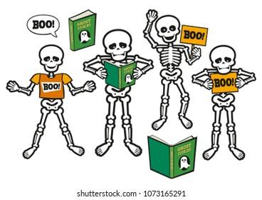 Funny Scared Skeleton