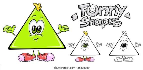 Funny Shapes - Triangle Cartoon Mascot