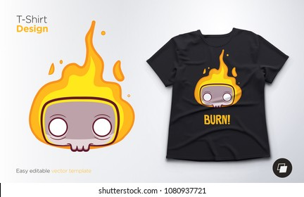 Funny skeleton. Print on T-shirts, sweatshirts and souvenirs. Vector illustration