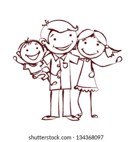 family sketch images stock photos amp vectors shutterstock
