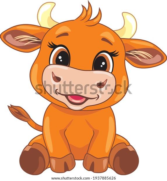 funny-smiling-baby-bull-cartoon-600w-193