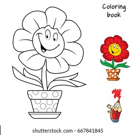 Coloring Page Playing Kids Nature Gorseller Stok Fotograflar Ve