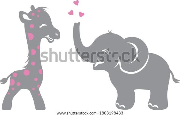 funny-smiling-giraffe-elephant-hearts-60
