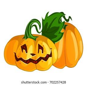 Funny smiling vector Halloween pumpkin