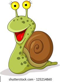 Funny snail cartoon