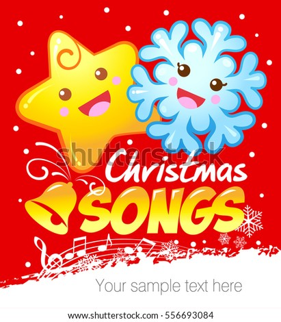 christmas songs for kids vector illustration - Christmas Songs For Kids