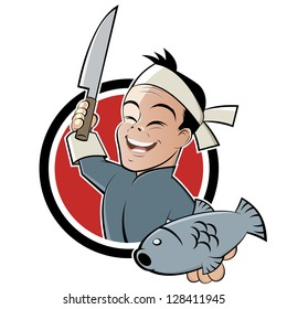 funny sushi chef