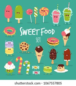 Funny sweet food icon. You can use for cards, fridge magnets, stickers, posters.