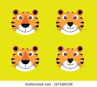 Funny tiger cartoon for print commercial use
