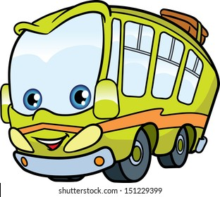 cartoon bus images stock photos vectors shutterstock rh shutterstock com Large School Bus Clip Art Animated School Bus Clip Art