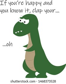 Funny T-rex Illustration suitable for t-shirts, children books, greeting cards, ecards