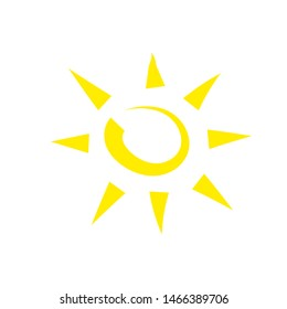 Funny vector doodle sun. Template. Frendly atmosphere. Hand drawn. Stock vector illustration