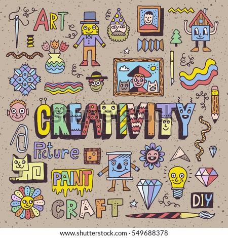 funny wacky doodle creativity arts hobby stock vector royalty free