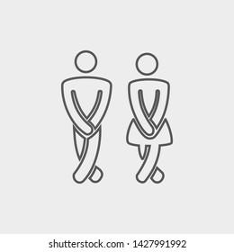 Funny wc restroom icon symbol vector
