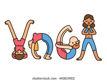 funny yoga images stock photos  vectors  shutterstock