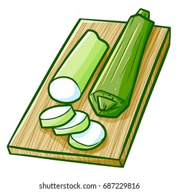 "Funny and yummy Indonesian snack ""Lontong"", a cooked rice wrapped with banana leaves - vector."