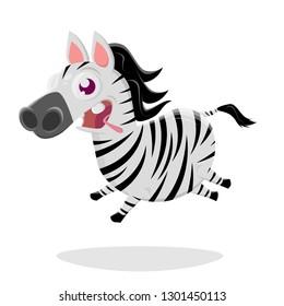 funny zebra cartoon illustration