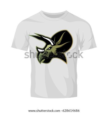 e49867e271c6 Modern team badge mascot design. Premium quality wild reptile t-shirt tee  print illustration. Savage monster icon. - Vector