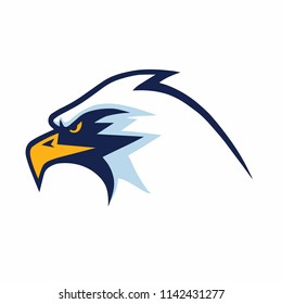 Furious Eagle Head Mascot Sports Team Logo Template