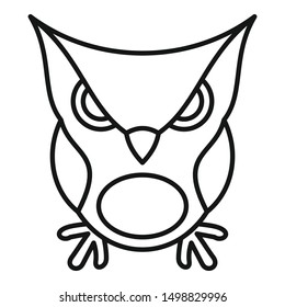 Furious owl icon. Outline furious owl vector icon for web design isolated on white background
