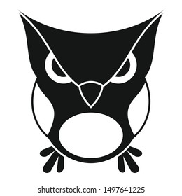 Furious owl icon. Simple illustration of furious owl vector icon for web design isolated on white background