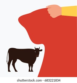 furious toreador or matador isolated vector. simple modern angry bullfighter waiting & ready to fight in a typical spanish bullfight cartoon flat design background. holding red piece of cloth or flag