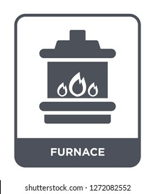 furnace icon vector on white background, furnace trendy filled icons from Electronic devices collection, furnace simple element illustration