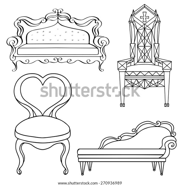 Super Furniture Chair Armchair Throne Sofa Couch Stock Vector Gmtry Best Dining Table And Chair Ideas Images Gmtryco