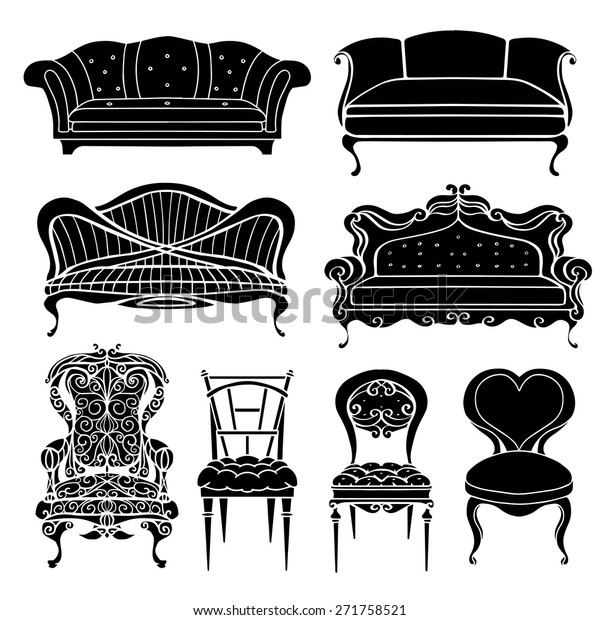 Admirable Furniture Chair Armchair Throne Sofa Couch Stock Vector Gmtry Best Dining Table And Chair Ideas Images Gmtryco