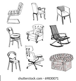 Furniture. Chair. Sofa. Modern & classic style