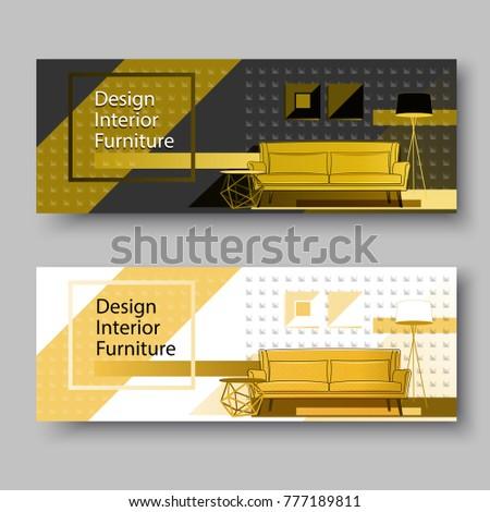 Furniture Concept Home Interior Design Background Stock Vector Enchanting Home Interior Design Catalogs Concept