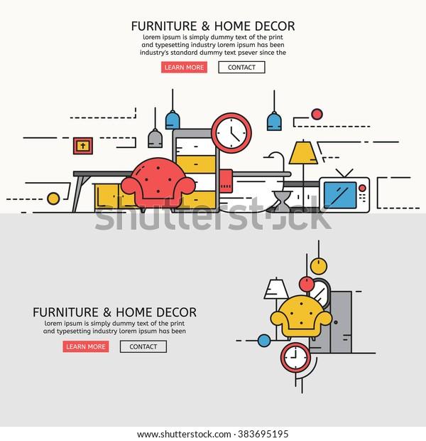 Vector De Stock Libre De Regalías Sobre Furniture Home