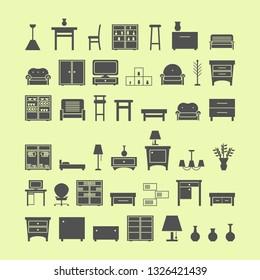 furniture icons set. vector illustration