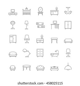 furniture icons set for your design