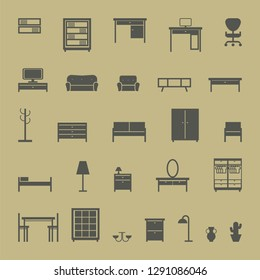 furniture icons set.vector illustration