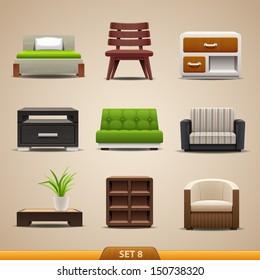 Furniture icons-set 8