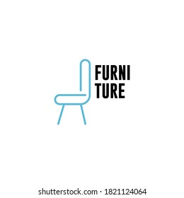 furniture interior logo vector icon illustration. chair icon