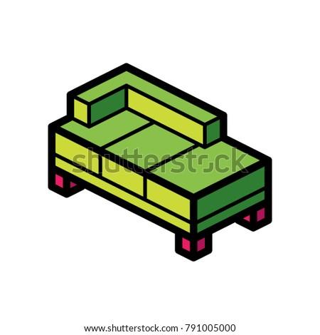 Furniture Iso Corner Sofa Stock Vector Royalty Free 791005000