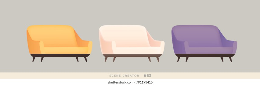 Furniture isolated vector set