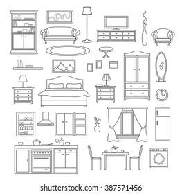 Sketch Of A Bedroom Images Stock Photos Vectors Shutterstock