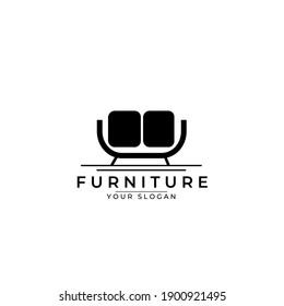 furniture line art logo vector simple illustration template design