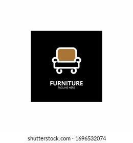 Furniture logo , Furniture armchair , sofa logo design.