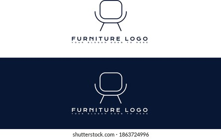 furniture logo creative compay logo design.furniture company logo. creative modern vector design.wood furniture logo.
