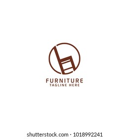 Furniture Logo Design, Combine with Chair Icon