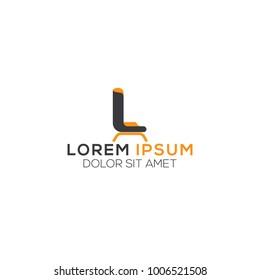 Furniture Logo. Modern Template Design. Vector Icon Illustration.